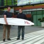 Neue Riblet Technologie wird auf einem Fanatic Speedboard getestet