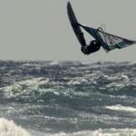 Windsurf Weltmeister Philip Köster auf dem Weg zum Triple Loop