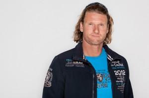 Björn Dunkerbeck mit Camp David Windsurf World Cup Collection Sylt