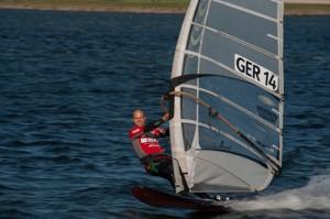 Der alte und neue Deutsche Meister im Speedsurfen Michael Naumann