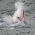Björn Dunkerbecks Crash beim Windsurf World Cup Sylt