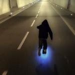 LED Skate Session gegen Winterdepressionen