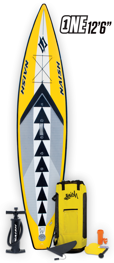 naish one 126 inflatable touring race sup