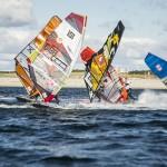 Erste Slalomwettfahrten vor Westerland beim GP Joule Windsurf World Cup Sylt gestartet