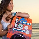 Kitesurf Europameisterin Sabrina Lutz ist sponsored by Panasonic