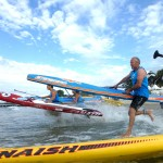 Beach Race Action bei der Killerfish German SUP Challenge in Kühlungsborn