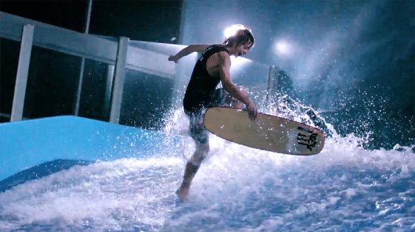 indoor surfing flow rider video