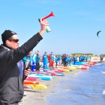 Beach Action beim Saisonstart der Killerfish German SUP Challenge 2015 auf Fehmarn