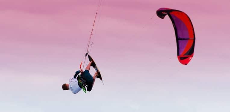 Kitesurf Trophy Rider Soeren Cordes in Action