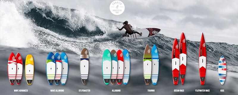 fanatic sup hardboards 2016