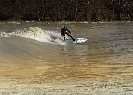 stecher twins sup flood surfing sup mag