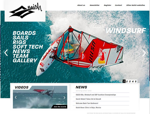 Naish Website 2010