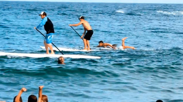 slow motion sup race video