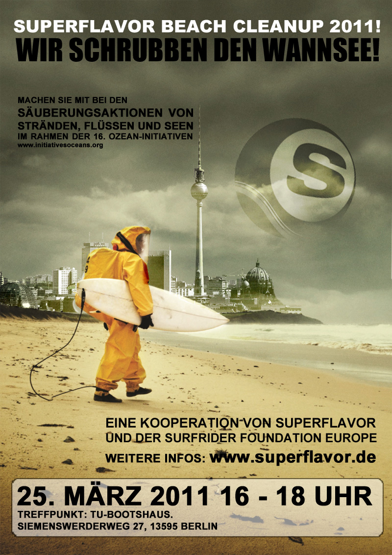 superflavor beach cleanup berlin 2011