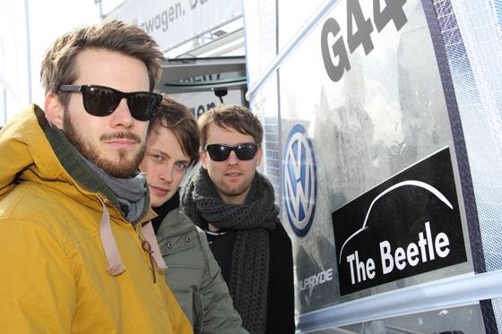 Revolver Held am VW Stand beim Windsurf World Cup Sylt