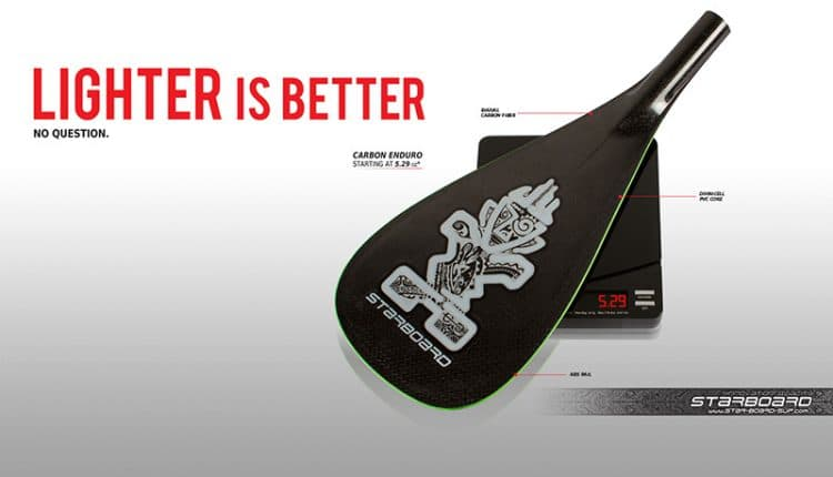 SUP Paddle Technology – lighter is better