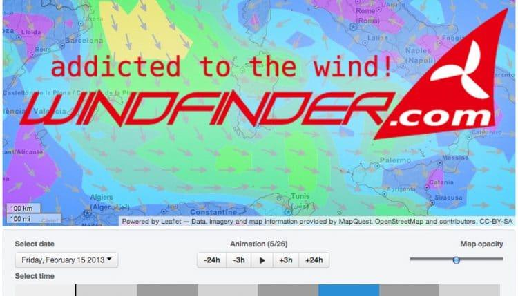 windfinder neu forecast