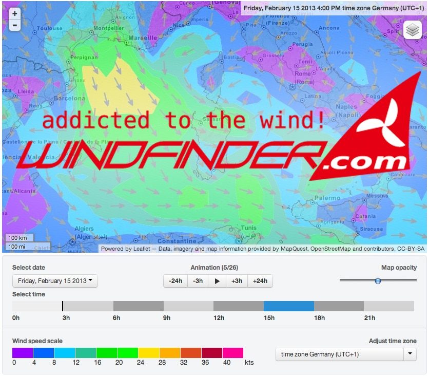 windfinder neu forecast