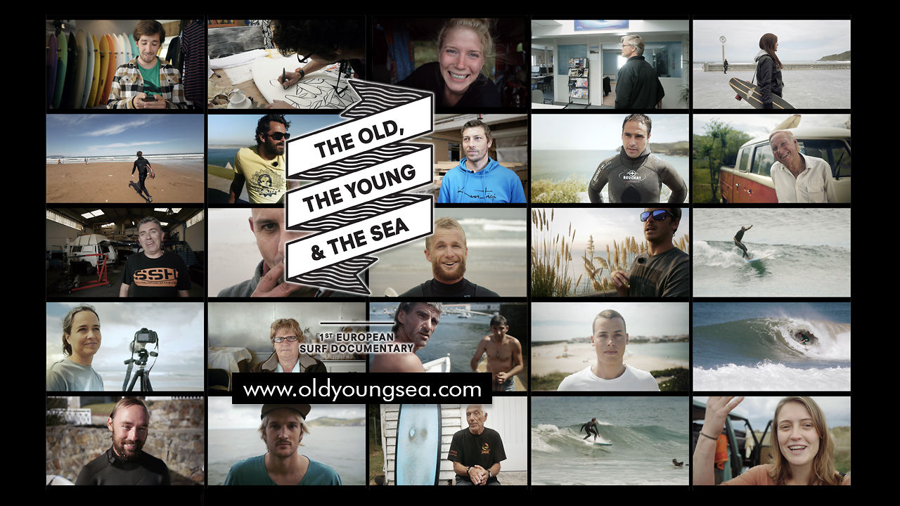 Video thumbnail for vimeo video THE OLD, THE YOUNG & THE SEA – A EUROPEAN SURF DOCUMENTARY – SUPERFLAVOR SURF MAGAZINE