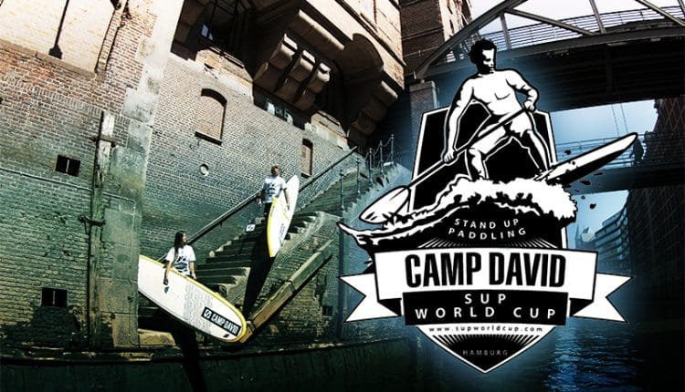 Björn Dunkerbeck und Sonni Hönscheid beim Camp David SUP World Cup Hamburg