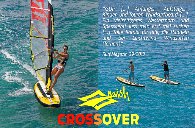 Naish Crossover – Das Windsurf Paddle iSUP