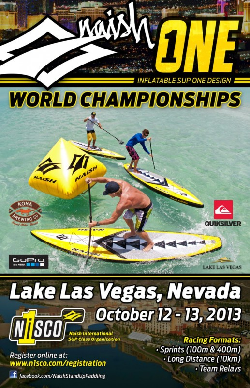 naish one sup race weltmeisterschaft plakat