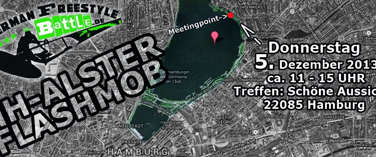 Hamburg-Alster Windsurf FLASHMOB