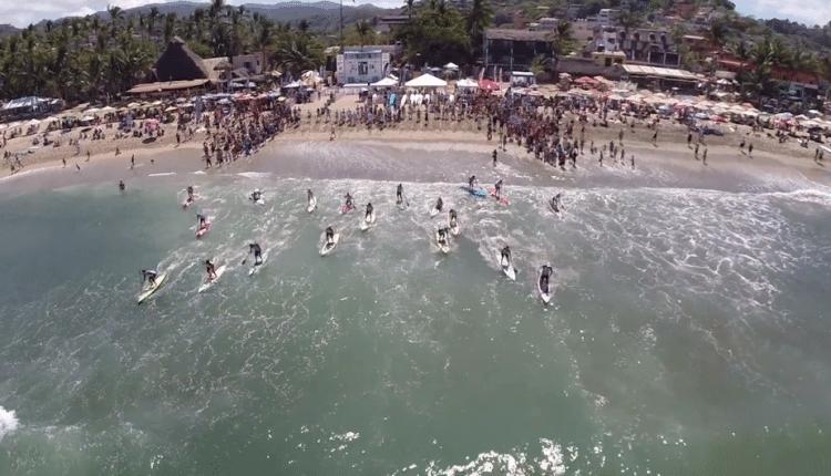 Punta Sayulita SUP Elite Race Highlights aus der Luft
