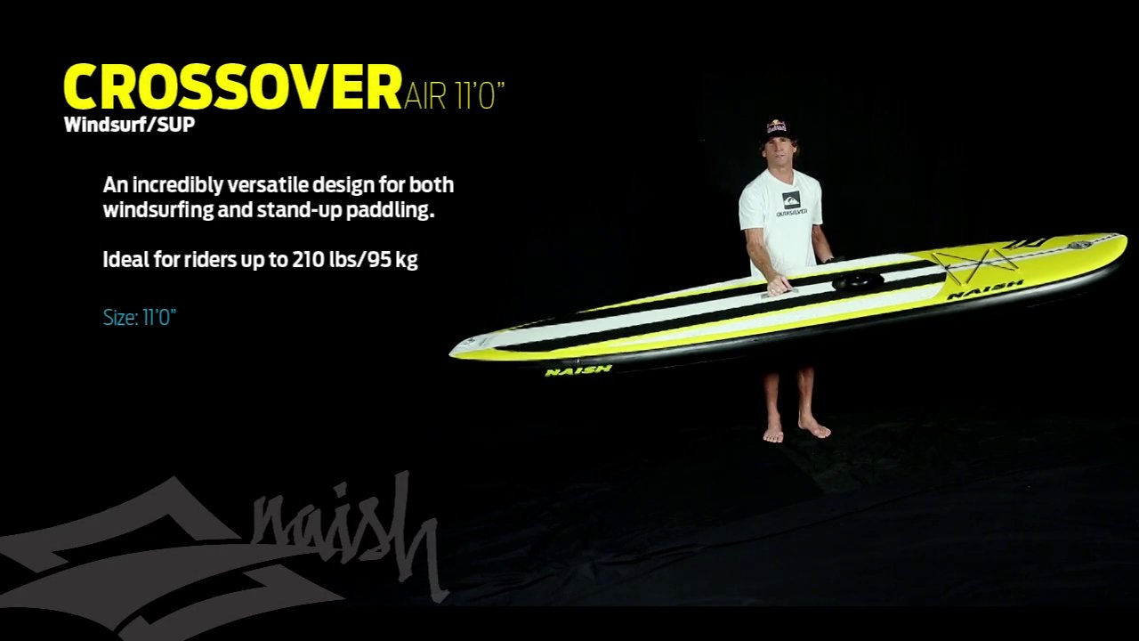 Video thumbnail for vimeo video Naish Crossover Air – SUP Test – SUPERFLAVOR SURF MAGAZINE – WIND WAVE SUP
