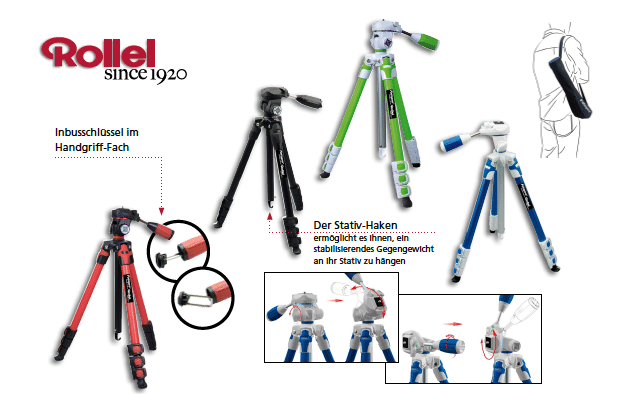 Rollei mag es bunt – das neue Stativ Rollei S3