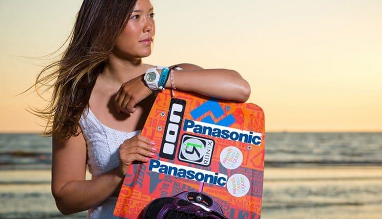 Kitesurf Europameisterin Sabrina Lutz ist sponsored by Panasonic
