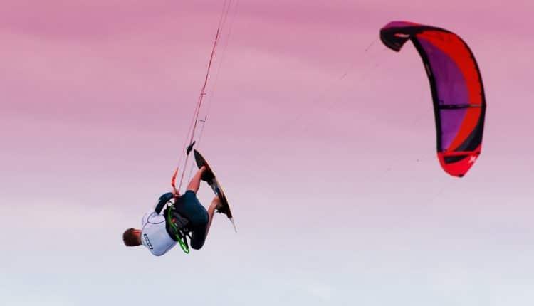 Sören Cordes gelang mit 12,2 Meter höchster Sprung der Kitesurf Trophy