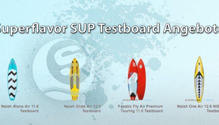 Superflavor SUP Testboards und Paddle im Angebot