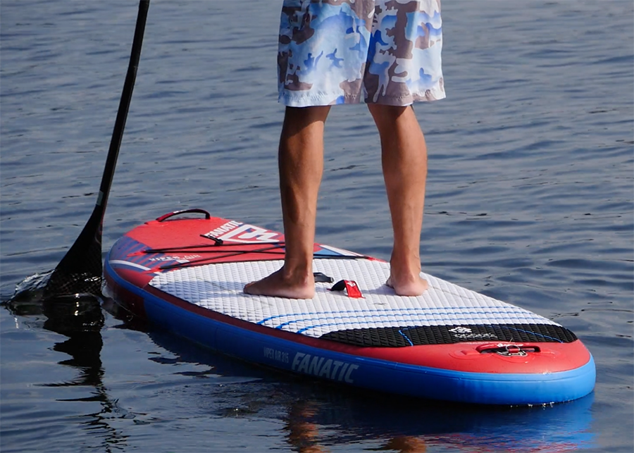 fanatic viper air wind sup sup board test superflavor gleiten-tv 13