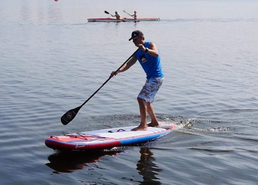 fanatic viper air wind sup sup board test superflavor gleiten-tv 17