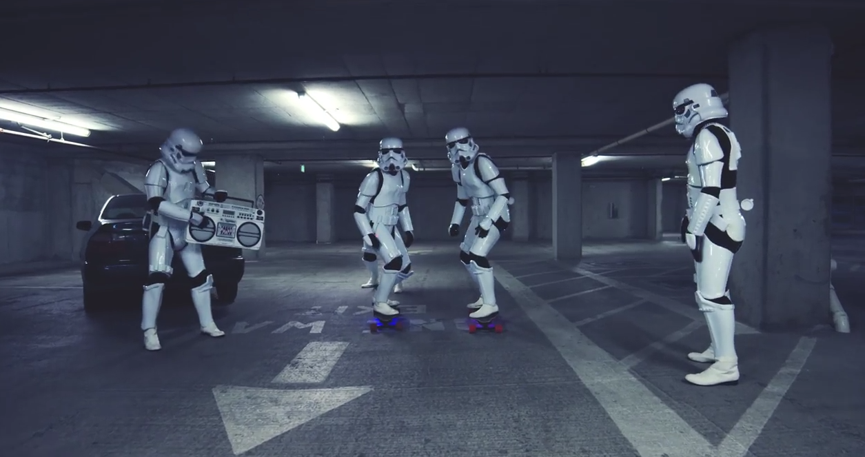 star wars storm trooper skate longboard – superflavor surf mag