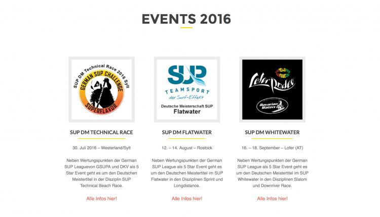 Deutsche SUP Meisterschafts-Wochen 2016