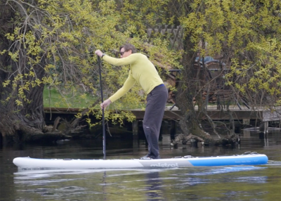 Mistral trecker SUP Board Test 03 400x286 - Mistral Trekker 12.6  im Inflatable SUP Test