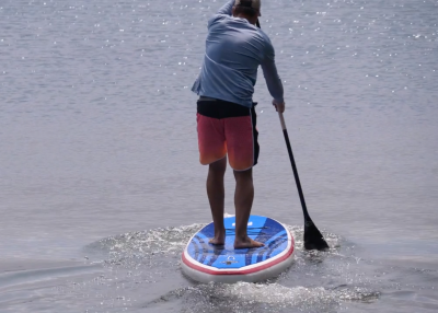 gts malibu inflatable sup board test superflavor sup mag 15 400x286 - GTS Malibu Surf 11.0 im Inflatable SUP Board Test