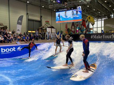 IMG 8236 400x300 - Fiona Wylde und Zane Schweitzer siegen bei den boot Düsseldorf SUP Wave Masters 2020
